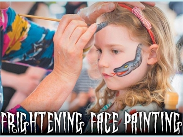 Frightening Face Painting